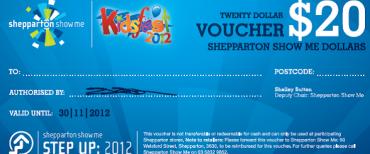 Example of Shepparton Show Me Money