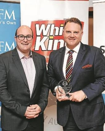 Pictured: SSM Chairman, Simon Quattrocchi and the 2016 award winner Cardamone Real Estate Director, Peter Cardamone